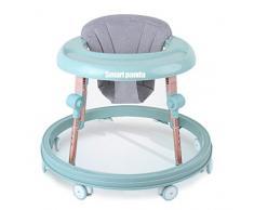 Smartpanda Girello Pieghevole per Bambini - per Bambine 6-18 Mesi Giocattoli educativi Divertente Regalo di Compleanno - Girelli per Bambini Regolabili in Altezza, Blue