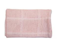 EliteHomeCollection - Coperta morbida per carrozzina, lettino, culla o culla in vimini, 100% cotone cellulare, 80 x 110 cm 80cm x 110cm rosa