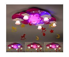 Buona lampadario Lampada Camera Per Bambini Ragazza Creativa Principessa Teddy Bear Portato Soffitto Lampada Camera Da Letto Del Bambino Del Fumetto