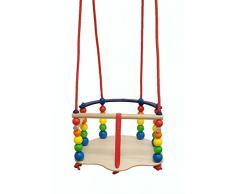 Hess 31103 - Bambino De Luxe Altalena Giocattolo con Barre di Protezione, in Legno