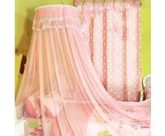 uus Zanzariere Bambini 1,5 / 1,2 / 1 M Letto Dome Nets Principessa lettino per bambini Corte Soffitto Piano materasso ( Colore : Rosa , dimensioni : 1.0m Bed )