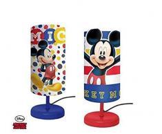 Cilindro Della Lampada da Comodino DISNEY MICKEY MOUSE Camera da Letto per Bambini in Rosso! - LQ2024