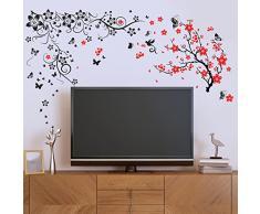 Wallflexi Adesivi murali Fiore bocciolo murale Decalcomanie Arte Soggiorno Scuola Materna Ristorante Hotel Cafe Ufficio Decorazioni per la casa Decorazione, Multicolore