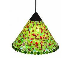 Näve 663103 - Lampada a sospensione, decorazione: mosaico, diametro: 28,5 cm, colore: Verde