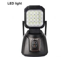 Faro LED Esterno AAIWA 48W 4800LM Lampada da Lavoro Ricaricabile da Pesca Lampade di Ispezione per Auto Campeggio Home e di emergenza uso con Torcia LED