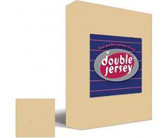 Double Jersey Flanel Laken Beige - Letto gemelli, 240 x 300 cm
