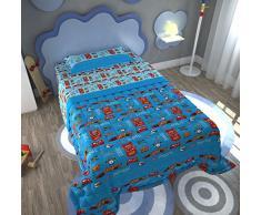 Disney Pixar a_Una_ Piazza, Azzurro, Letto Singolo
