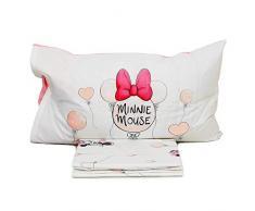 Caleffi Completo Lenzuola Minnie Love Letto Singolo 1 Piazza Disney