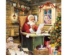 """'Babbo Natale Scrivania bello liste bambini gatto albero 13 """" X 13 33 cm x 33 cm 20 X 3 strato tovaglioli di carta"""