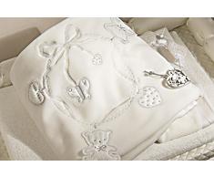 Copertina Lettino Picci Jasmine in Pile Cod. 64.53 Panna