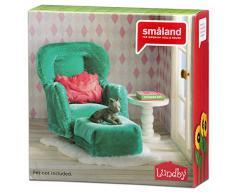 Lundby 60.2093.00 - poltrona con poggiapiedi, mini bambola con accessori