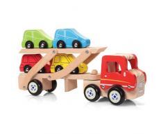 Tobar - Camion porta-auto, Giocattolo in legno