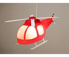 R & M coudert elicottero lampada sospensione bambino rosso