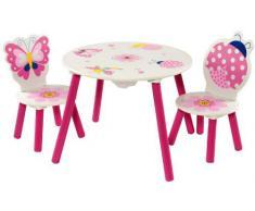 IB-Style - Set di mobili per bambini PAPILLON | 6 combinazioni | Set composto da tavolo per bambini e 2 sedie
