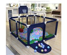 Box per bambini, piscina interna per bambini a sfera sulloceano, tappetino per gattonare per bambini piccoli, recinto di sicurezza per bambini, recinto di protezione per bambini, 120X120X62CM-blu