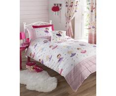 Ballerina rosa copripiumino e federa letto singolo da ragazza, biancheria da letto per bambini