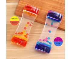 Bestonzon 2PCS Bubble Liquid timer - doppi colori ad olio clessidra Liquid Motion timer display con grazioso vita scrivania decorazione regalo di compleanno di giocattoli per bambini