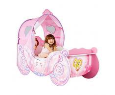 HelloHome Passeggino per bambine, tema: Principesse Disney, Legno, Pink, 160x87.5x136 cm
