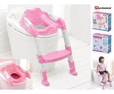 Formazione vasino bambino - scaletta vasca da bagno con scaletta, Teddie - Rosa