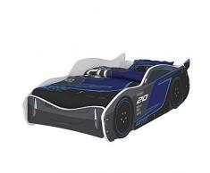 iGLOBAL - Lettino per bambini Zig Zag Lightning McQueen Jackson Storm Cars 3, letto per ragazzi con rete a doghe e materasso 160 x 80 cm (160 x 80 cm senza materasso)