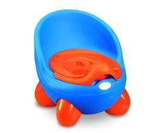 MEDIAWAVE Store Vasino bimbi POTTY BABY TOILET 363324 pratico sicuro e comodo con coperchio (Blu)