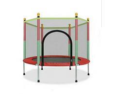 Trampolino da Giardino Jumper Set Salto Inclusi Tappeto Elastico Rete di Sicurezza Pali Imbottiti e Rivestimento dei Bordi Unisex,Red