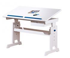 Links - Color A16 - Scrivania. Dim: 109x55x62 h cm. Col: Rosa, Blu. Mat: MDF, Legno massello.