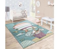 Tappeto Per Bambini Stanza Dei Giochi Caos Animali Zoo Pallone Giocoso Colorato, Dimensione:120x170 cm