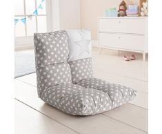 howa 2 in 1 poltrona + divano per bambini – schienale regolabile in 6 posizioni - grigio 8602