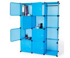 TecTake armadio scarpiera mobiletto da bagno armadio da cameretta sistema di plug-in cuba blu