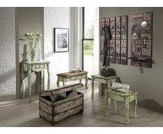 Haku Möbel 89918 - Appendiabiti da parete, 70 x 9 x 100 cm, stile vintage