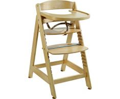 Roba Seggiolone Evolutivo sit Up Maxi, Seggiolone in Legno Taglia Extra Incluso Vassoio e Staffa di Protezione, da Seggiolone Diventa Sedia, Color Legno Naturale