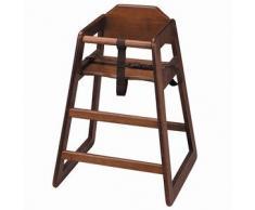 Sedia alta in legno per bambini, neonati o, seggiolone per bambini, ideale per uso commerciale domestico o da usare