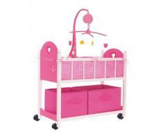 giochi preziosi rdf50542 love bebe' - lettino in legno con cassettiera e giostrina