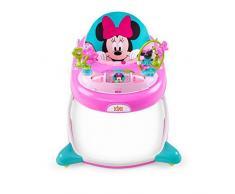 Disney Baby, Girello Minnie PeekABoo con giocattoli interattivi, luci e musica, altezza regolabile, seduta sfoderabile e struttura piegabile