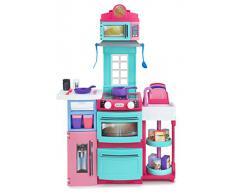 Little Tikes - Cucina giocattolo, con fornelli, forno e scaffali, colore: Rosa