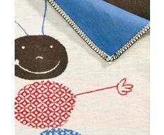 David Fussenegger Coperta per Bebè 100x75cm Certificazione GOTS (Cotone Coltura Biologica controllata), Bianco