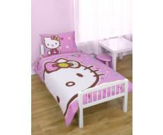 Completo Lettino Lenzuola Copripiumino 120X150Cm Hello Kitty Originale Sanrio