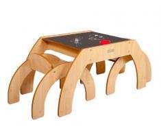 Little Helper, Tavolino con portamatite e 2 sedie, per bambini