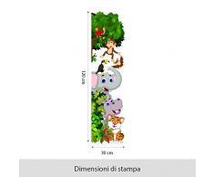 R00354 Adesivo murale per bambini Wall Art - Benvenuti nella giungla 2 - Misure 30x120 cm - Decorazione parete, adesivi per muro, carta da parati