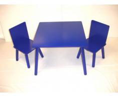 Kids-Tavolo e 2 sedie, colore: Blu
