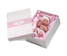 Llorens - Morbida bambola bebè con culla portatile, 35 cm
