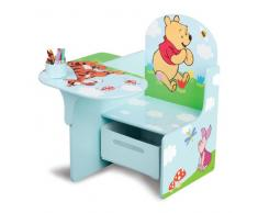 Delta, Poltroncina per bambini con tavolino laterale Winnie the Pooh in MDF, cassetto in canvas