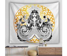 XIAOBAOZIGT Tappezzeria Stampata Appeso A Parete Principessa di Polpo Copriletto in Tessuto per Tende da Sole Artistiche Camera da Letto Sala da Pranzo Arredamento per La Casa 100×150Cm