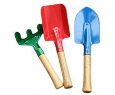 Outf Lower 3 pezzi set da giardino – – Rastrello – Vanga – in legno e metallo – per bambini e adulti – Attrezzi da giardino, Sabbiera giocattolo, attrezzi da giardinaggio – stabile attrezzature da