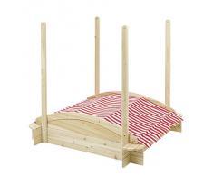 howa - Sabbiera di legno con tettuccio 5411