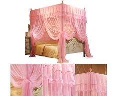 Pueri elegante zanzariera 4 angoli letto a baldacchino principessa letto tenda zanzariera da, Yellow, Misura unica