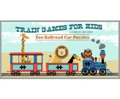 Giochi di treno per i bambini: Zoo Puzzle Vagone Ferroviario