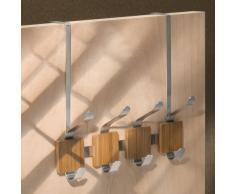 InterDesign Formbu Attaccapanni, 4 Ganci, Bambú, Beige, 45.5x5x4.5 cm