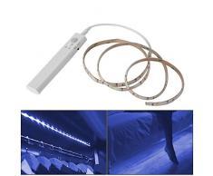 XCSOURCE Wireless PIR Sensore di movimento Strip Light 1.5M 45 LED Armadio cabinato operato sotto la lampada notte LD1052